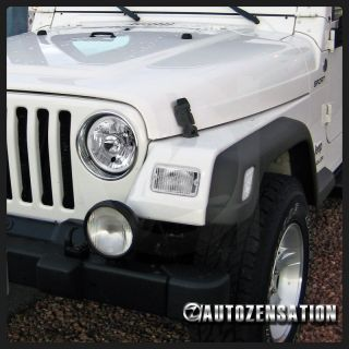 97 06 Jeep Wrangler Clear Bumper Side Markers Lights Projector Headlights