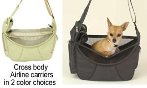 Cross Body Airline Carry on Small Pet Carrier Puppy Dog Cat Tote Bag to 12 Lbs