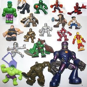 Marvel Super Hero Squad Figure Lot Sentinel Planet Hulk Legends Universe x Men
