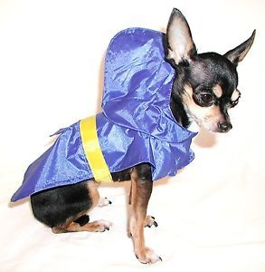 Pets New Blue Small Dog Puppy Waterproof Rain Coat Poncho Clothes Chihuahua