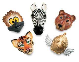 Animal Face Forms 5 Papier Mache Plaster Clay Masks