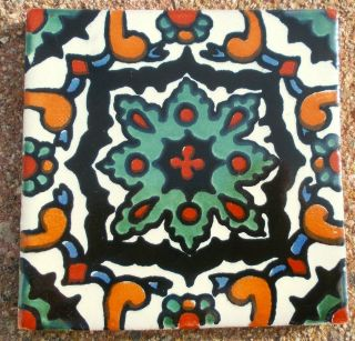"12 Mexican Talavera Pottery 4"" Tile Hand Painted Wall Folk Art Venice Italy CD"
