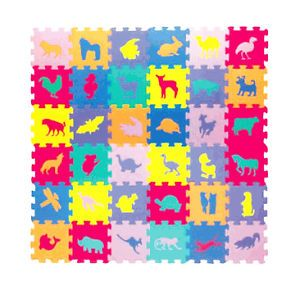 36pc Soft Foam Jigsaw Puzzle Children's Animal Learning Activity Eva Play Mat