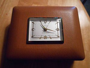 Vintage Phinney Walter Travel Alarm Clock and Jewel Box Made in Germany