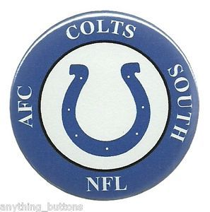Indianapolis Colts NFL AFC Football Button Pinback Badge New 2 1 4""