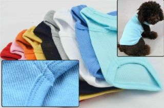 Pet Blank Ribbed T Shirts Small Dog 100 Cotton Tank Top Shirts Summer 9 Colors