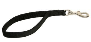 All Weather 2 Ply Strong Nylon Dog Leash 6 Feet Black
