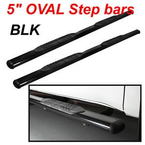 "2013 RAM 1500 Quad Cab 5"" Black Nerf Bars Side Steps Rail Running Board Extended"