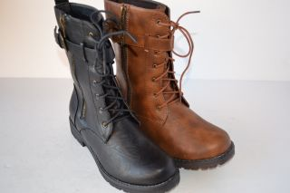 Reneeze Becky 01 Women`s Mid Calf Military Lace Up Combat Boots Size 6 10