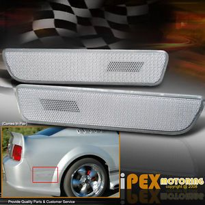 05 08 Ford Mustang All Clear Rear Side Bumper Marker Reflector Parking Lights