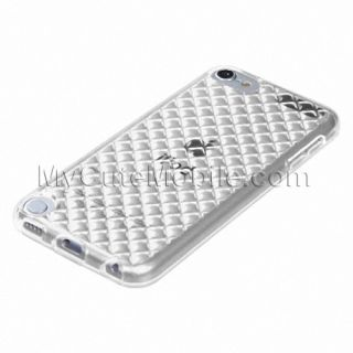 Apple iPod Touch 5g 5th Gen Case Clear Diamond Durable TPU Skin Cover Pouch