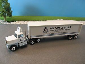 Winross Diecast Ford Tractor Trailer Truck Miller Sons Water Conditioning 1 64