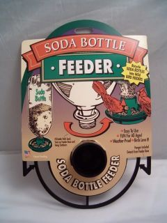 Birdfeeder Recycle Soda Bottle Bird Feeder Black