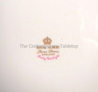 Royal Albert Bone China Lady Carlyle Set 4 Salad Dessert Tea Plates Minty Pink