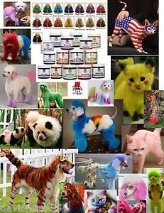 Top Performance Hair Dye Color Gel for Dog Cat Pet Coat Fur Coloring Grooming