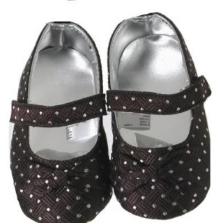 Vitamins Baby Black w Polka Dots Mary Jane Baby Girl Dress Flower Girl Shoes