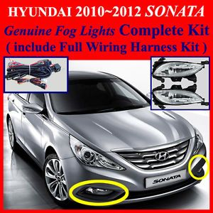 2010 2011 2012 Hyundai Sonata Fog Light Lamp Complete Kit Wiring Harness Kit