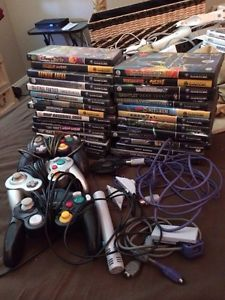Lot of 29 Nintendo GameCube Games Controllers EXTRAS