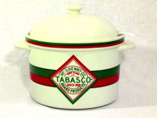 Tabasco Tobasco Hot Sauce Advertising Promo Ceramic Soup Chili Crock Ladle