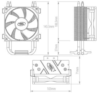 New Heat Sink Cooling Fan for 100W High Power LED Lamp
