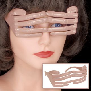Funny Finger Glasses Hand Covers Eyes Costume Gag Joke Peek A Boo Halloween Prop