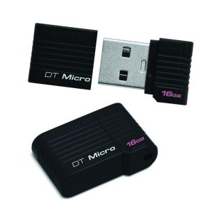 Kingston 16GB Micro USB Flash Drive DTMCK 16GB DataTraveler Black Compact 740617196535