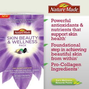 Nature Made Skin Beauty Wellness Pack Pro Collagen Ingredients 60 Days 6 2013