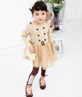 Girl Dress Long Sleeve Tutu Kids Clothes S1 6Y Baby Party Costume Cute 2 Color