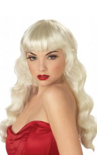 Hot Sexy Pin Up Girl Halloween Costume Wig Blonde 70404