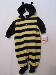 New Baby Outfit Halloween Yellow Blk Costume Bumble Bee Wings 0 3 Month Months