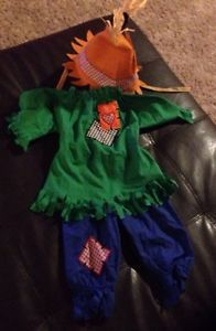 Infant Baby Toddler Halloween Costume 12 18 Months Scarecrow Hat Top Bottom