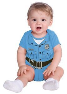 Newborn Infant Baby Boys Police Officer Cop Halloween Costume