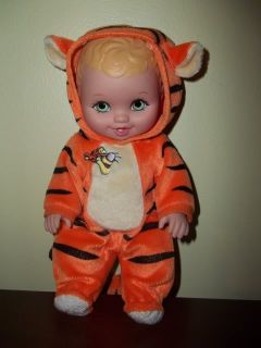 "Vintage 10"" 1999 Tigger Rubber Water Baby Doll Made by Lauer Toys Inc"