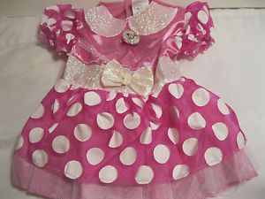 Baby Girl Minnie Mouse Costume Halloween Size 12 18 Months Dress Only