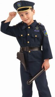 Kids Boys Police Officer Cop Halloween Costume