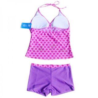 Girls Polka Dots Tankini Swimsuit Swimwear Swimming Costume Ages 8 10 12 14 16