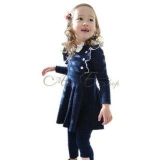 Girls Kid 1 Pcs Dress Tutu Skirt Size 4T Clothing Cotton Costume Long Sleeve
