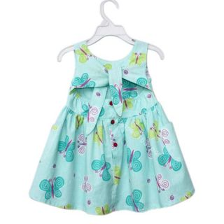 Girls Kids Sz 4T Butterfly Tie Back Cute Summer Party Dress Costume Clothing