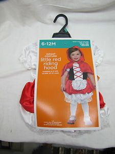 Little Red Riding Hood Infant Halloween Costume New 6 12 Months