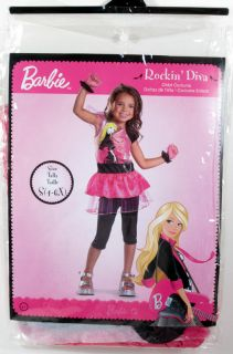Child Girls Barbie Rockin' Diva Costume Small 4 6X Singer Rocking 50064L