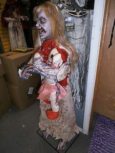 Halloween Haunted House Lifesize Little Girl Baby Doll Zombie Prop Decoration