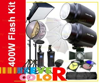 400W Cooling Fan Studio Flash Light Kit Fr Nikon D3100