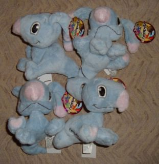 "4 Neopets Baby Blumaroo Stuffed Animal Plush 4"" New Party Favors Gift RARE"