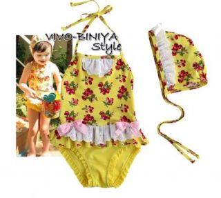 Girls Baby 2 6 Cherry Blossoms Tankini Bikini Swimsuit Swimwear Swimming Costume