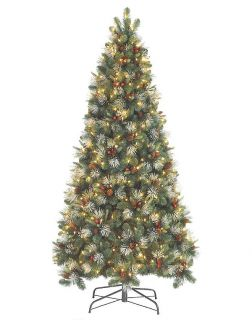 7' Slim Clear Pre Lit Olivia Artificial Christmas Tree
