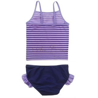 Girl Kid Striped Tinkerbell Tankini Swimsuit Swimming Costume Bathers Sz 2 10 Y