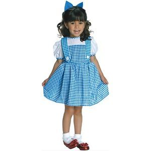 Dorothy Wizard of oz Toddler Baby Girls Gingham Dress Halloween Costume