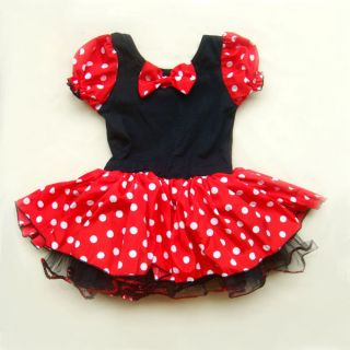 Christmas Disney Minnie Mouse Costume Girls Baby Party Ballet Tutu Dress Up 2T