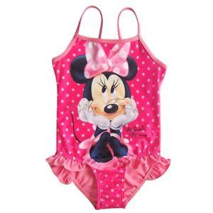 Girl Baby Polka Dots Minnie Mouse Swimsuit Swimwear Swimming Costume Sz 2 4 6 8