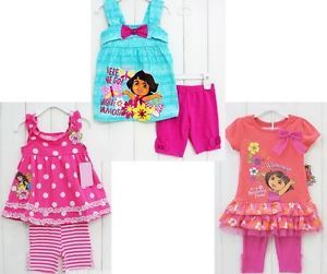 New Girl Clothing Top Pants 3 7Y Kids Outfit Dora Baby Costume 2pcs Cute Outwear